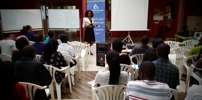 Director Bernadete Naganwaki leading a corporate training workshop